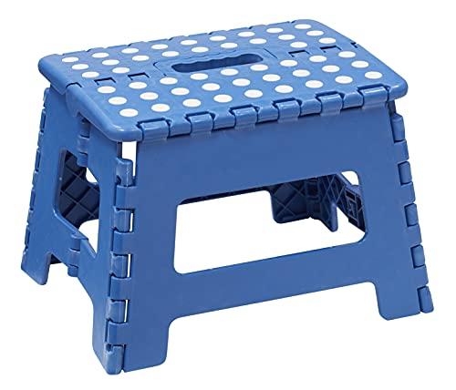 Arregui TB-022-A Sgabello Pieghevole Multiuso, 22 cm di Altezza, Blu
