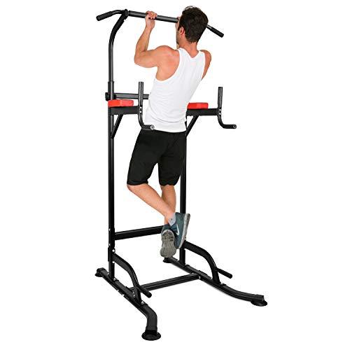 INTEY Chaise Romaine Power Tower, Tour de Musculation Multifonctions Barre de Traction, Entraîneur pour Abdominaux, Dos et Triceps, Pull-ups, Stabilité - Gym Familiale