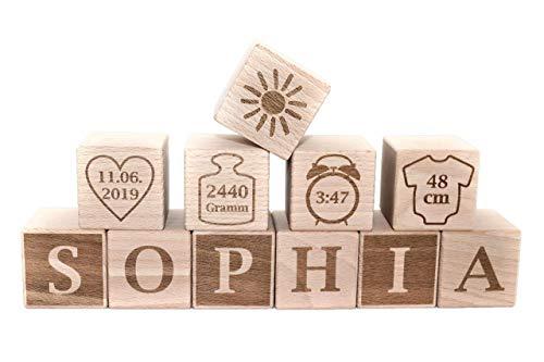 Buchstabenwürfel, Geschenk Taufe, Geschenk Geburt