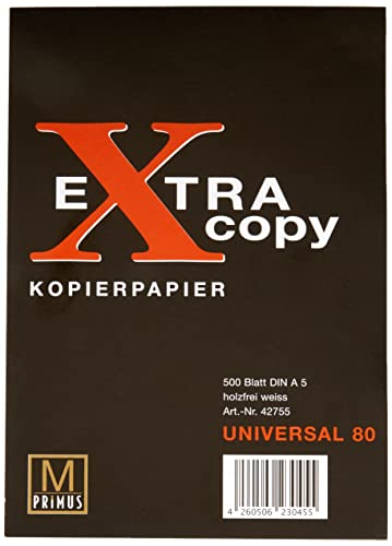 Primus 42755 - Kopierpapier Extra Copy DIN A5, weiß, 500 Blatt, 80 g/m²