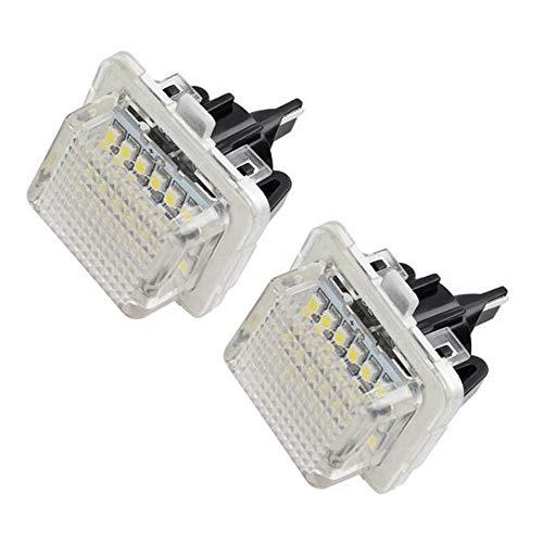 Boomboost 2pcs Lumière de Lampe de Plaque d'immatriculation de Coffre arrière de Voiture pour Le Benz W204 W212 W216 W221 W204 5D de Benz