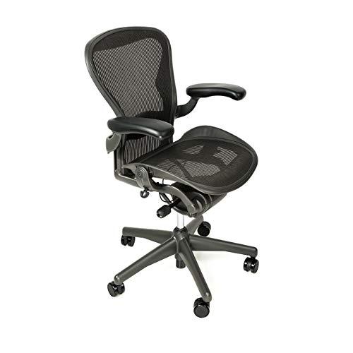 Herman Miller Classic Aeron Chair - Fully Adjustable, B Size, Adjustable Lumbar, Carpet Casters … (Renewed)