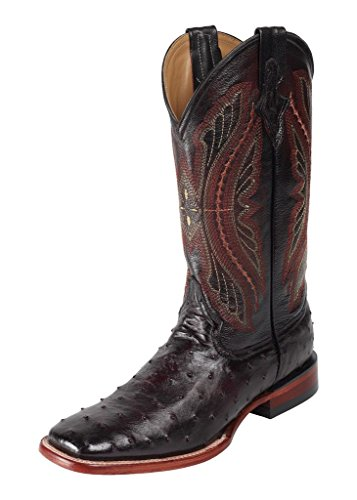 Ferrini Usa Mens Dark Chocolate Caiman Cowboy Boots 9.5 D(M) US