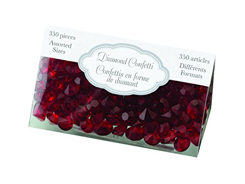 Lillian Rose Diamant Confetti, Hot Pink-p, Plastique, Red, 200 x 289 x 0.64 cm