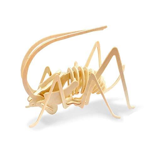 Georgie Porgy 3D Wooden Puzzle Cricket Model Woodcraft Construction kit Kids Toys age 5+ (JP201 Cricket 26pcs)