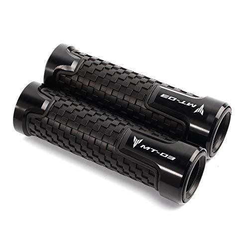 Manejas Manillar De Motocicleta De Aluminio CNC De 7/8 'para Motocicleta, Manillar Exquisito Para YAM┐AHA MT03 MT-03 MT 03, Accesorios Especiales Para Motocicleta Puños motocicleta ( Color : Negro )