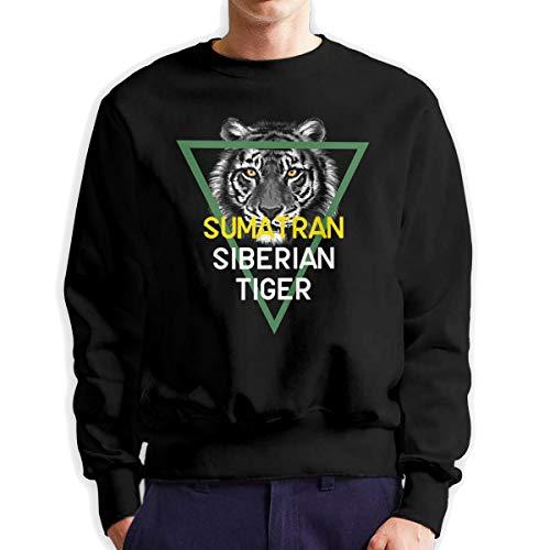 Sunwan Sumatran Siberische Tijger Mouw Lange Shirt Top Tops Casual Sweatshirt Blouse Tee Shirts Tees Klassieke Crewneckpatchwork Korte tiener Grote Blouses