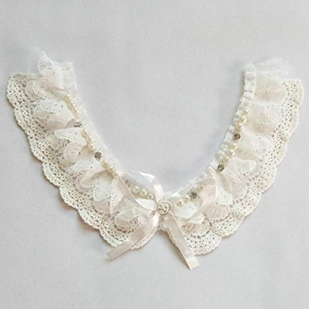 1 Pcs Garment Accessories/Pure Cotton Lace/Diamond Crystal Pearls Shirt Collar/Bow Tie Pearl Collar seusdsr719349