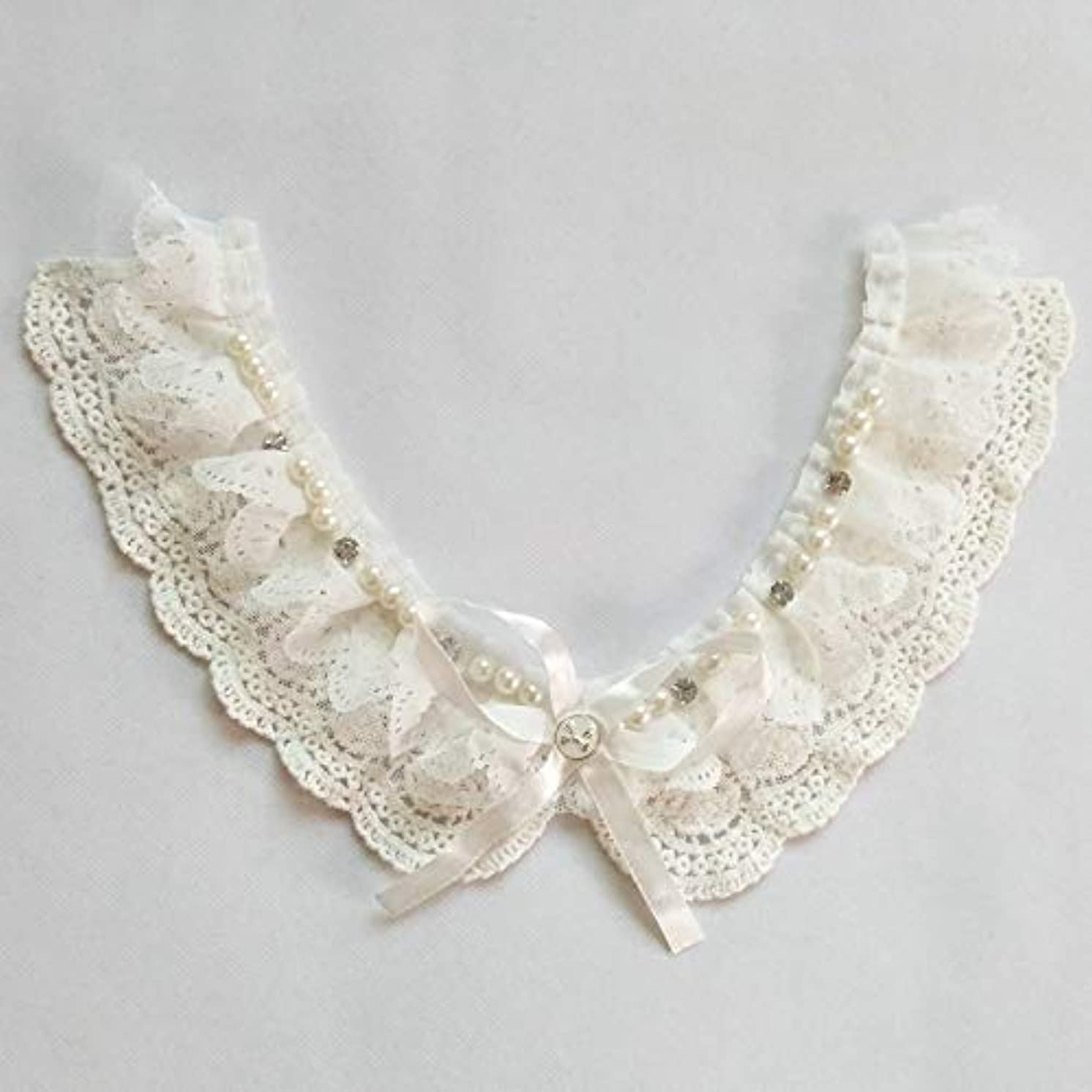 1 Pcs Garment Accessories/Pure Cotton Lace/Diamond Crystal Pearls Shirt Collar/Bow Tie Pearl Collar