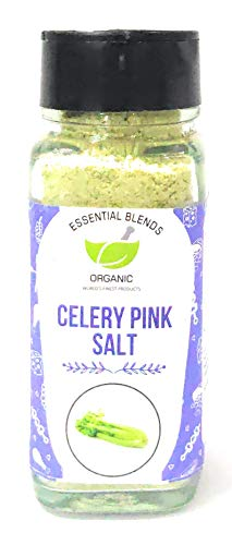 Essential Blends Organic Natural Pure Celery Pink Salt (80 Gm), Glass Bottle