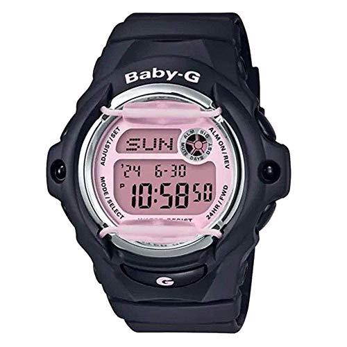 Casio G-Shock Women's Baby-G Digital Watch, Black/Pink (BLKPNK/1), One Size