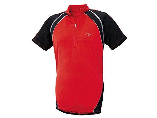 Crivit Sports Camiseta Bicicleta–Camiseta de m L XL A Elegir Camiseta Rojo, Color Rojo y Negro, tamaño Extra-Large