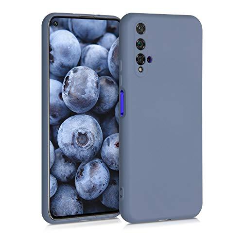 kwmobile Carcasa Compatible con Huawei Nova 5T - Funda de Silicona TPU para móvil - Cover Trasero en Gris Azulado