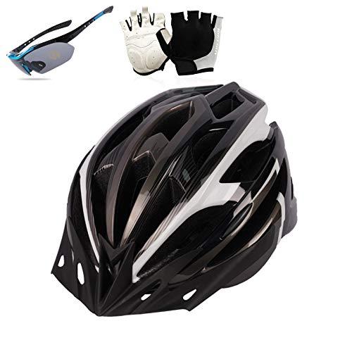 HVW Casco de Bicicleta, Cascos de Ciclismo Adulto para Hombres Mujeres Guantes...