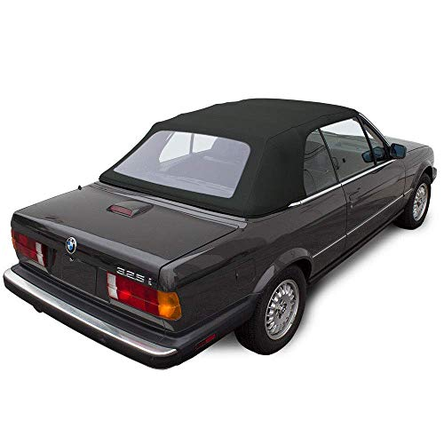 Fits: BMW 3 Series E30 Convertible Soft top 1987-1993 325i, 320i, 318i M3 Black Twill Vinyl