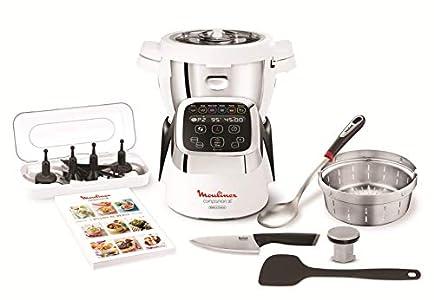 Moulinex Cuisine Companion HF806E10 Robot cocina 6 programas, 4.5 L hasta 6 personas, 12 velocidades y temperatura de 30º a 130º, función de mantenimiento de la calor 45 min