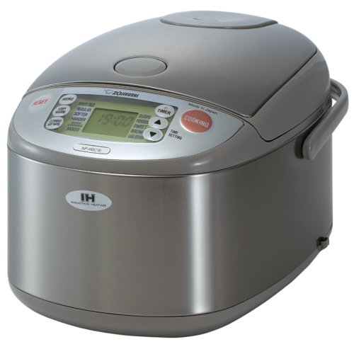 Zojirushi NP-HBC18 10-Cup (Uncooked) Rice Cooker and Warmer with Induction Heating System, Stainless Steel
