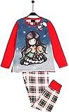 Santoro Gorjuss Pijama de 2 piezas, camiseta + pantalón de algodón otoño/invierno, original y auténtico, ideal para niña/niña, en bonita caja de regalo (54444, 8 años)