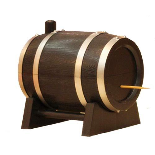 Jourbon Palillos De Dientes Barril De Vino Porta Palillos Caja Contenedor De Almacenamiento Dispensador De Palillos De Dientes Accesorios para La Cocina