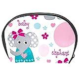 Neceser de Maquillaje Estuche Escolar para Cosméticos Bolsa de Aseo Grande Patrón de Puntos de Elefante bebé