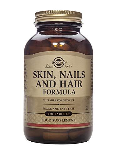 Solgar Comprimidos para Pelo, Piel y Uñas, Vitamina C para la formación de colágeno, Apto para Veganos, 120 Tabletas
