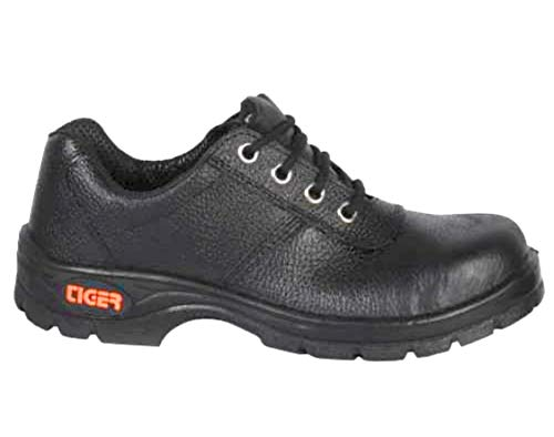 Tiger Safety Shoes, Black, 8 Inch