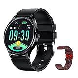 Smartwatch Uomo 1.57'' HD Orologio Fitness IP68 Impermeabile Con Cardiofrequenzimetro e Monitoraggio Della Pressione Sanguigna per Android iOS (Nero)