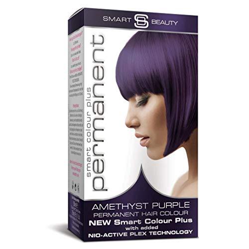 Smart Beauty Permanent Haarfärbemittel, Salon Qualität Haarfarbe mit Smart Plex Haarbehandlung - Amethyst Lila, 150 Milliliter