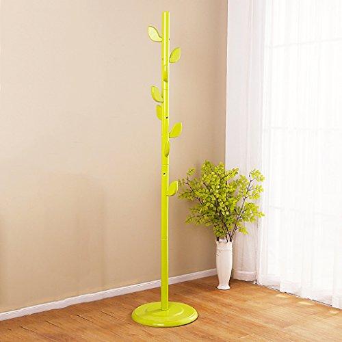 SKC Lighting-Porte-manteau Couvre-meubles en bois massif, étagères à vêtements multifonctions, étagères maison simples (Couleur : Vert)