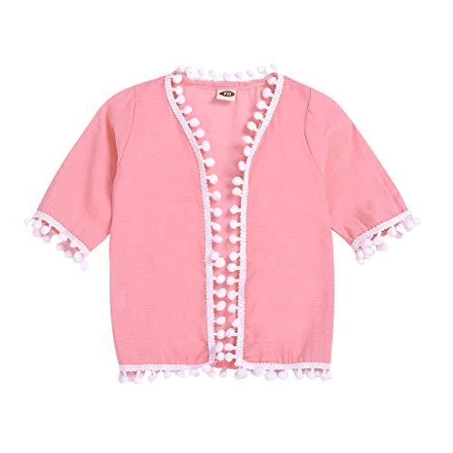Julhold Kleinkind Kinder Baby Mädchen Lässig Festlich Kimono Schal Strickjacke Baumwolle Tops Outfits Kleidung 0-3 Jahre