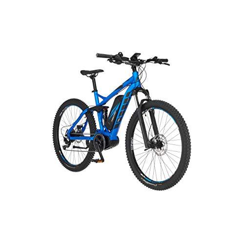 FISCHER E-Mountainbike EM 1862.1, E-Bike MTB, brillantblau matt, 27,5 Zoll, RH 48 cm, Mittelmotor 80 Nm, 48 V Akku