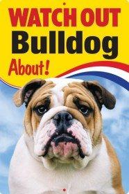 Pet/Dog 3D Linsenraster Flexible Schild ~ Watch Out 'Bulldog' Über.