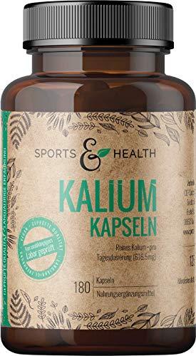 Kalium Hochdosiert - Kalium Kapseln – 180 Kapseln - Vegan - Frei von Zusatzstoffen – 616,5mg Kaliumcitrat pro Tagesdosierung - Potassium Citrate