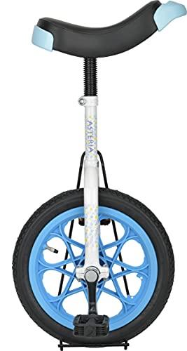 キャプテンスタッグ(CAPTAIN STAG) アステリア 一輪車 14インチ 子供用 スタンド付き ホワイト/ブルー YG-1341