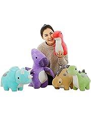 30 cm Kleurrijke Pluche Dinosaurus Speelgoed Gevulde Leuke Doll Soft Cartoon Animal Kawaii Kids Toy Cute Children's Gift (5PCS) Fulinmen