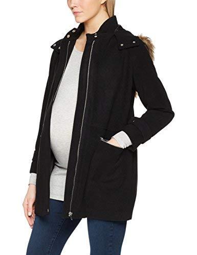 New Look 5262618 Manteau de Maternité, Noir, 40 Femme
