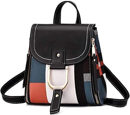 Ms and Girl Trumpet Backpack Messenger Bag Fashion Shoulder Bag Water PU Leather black