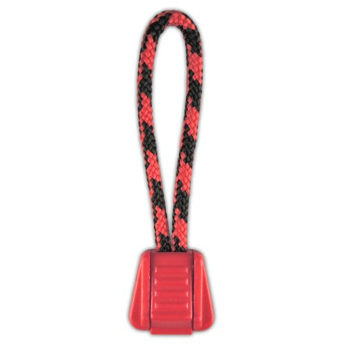 PARACORD PLANET Zipper Pulls Combinations – Choose from 5, 10 and 20 Pack Sizes (Black Widow/Red, 10 Pack)