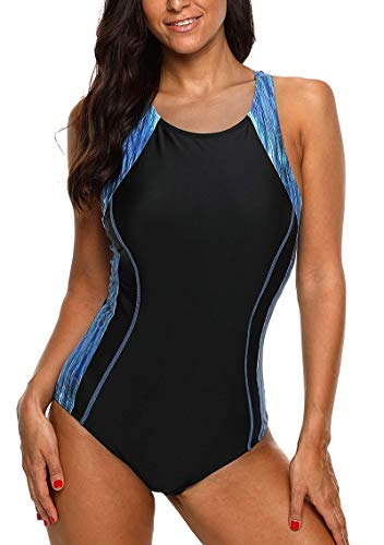 CharmLeaks Ladies Chlorine Resistant Swimsuit Tall One Piece Active Swimwear XL