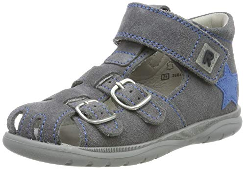 Richter kinderschoenen jongens Babel gesloten sandalen, grijs (ash/iris 6301), 26 EU