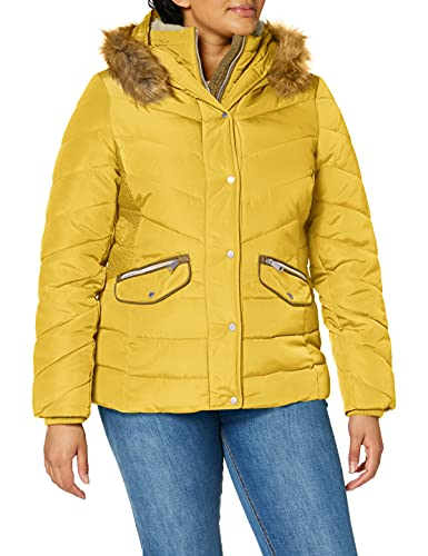 TOM TAILOR Damen Puffer Jacke, gelb-24270, L