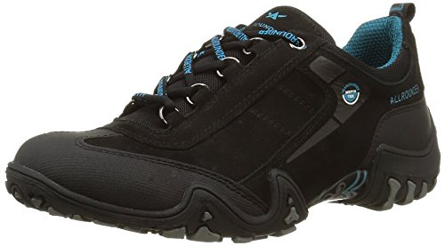Allrounder by Mephisto Damen FINA-TEX Sneaker, Schwarz (Black/Black), 38 EU