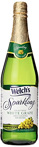 Welch's Sparkling White Grape Cocktail Juice, Non-Alcoholic, 25.4 Fl Oz