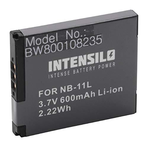 INTENSILO Akku kompatibel mit Canon Ixus 185, 190 Kamera Camcorder Video ersetzt NB-11L (600mAh, 3.7V, Li-Ion)