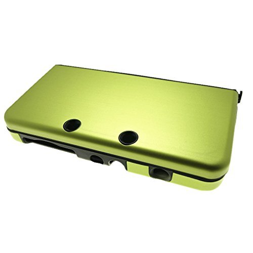 GREEN New Nintendo 3DS Case for New 3DS N3DS Aluminum Metal Crystal Case Protector Cover + Free Screen Protectors