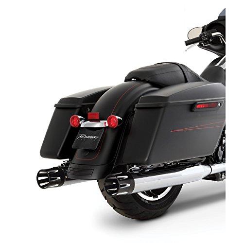 Rinehart Racing Moto Series 4' Slip-ons Chrome with Black Merge End Caps 500-0102-MERGE