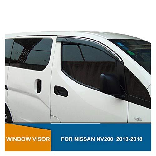 MYDH Windabweiser Für Nissan NV200 2010 2011 2012 2013 2014 2015 2016 2017 2018 Seitenfenster Visier Sun Rain Deflectors Wachen