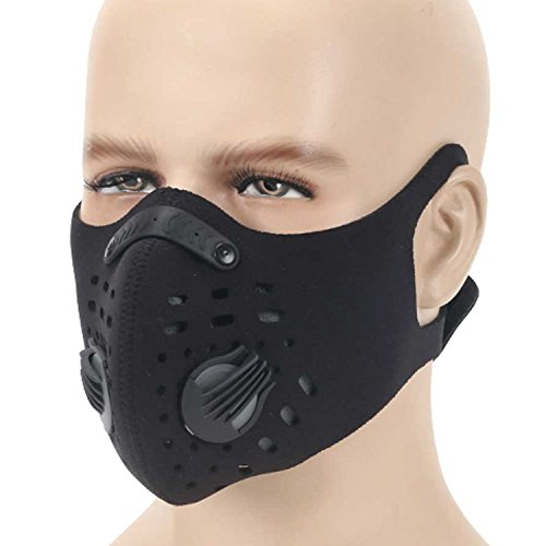 Moho Dustproof Mask, Activated Carbon Anti Pollen Allergy PM 2.5 Anti Dust Mask Half Face Masks for Bike Motorcycle Running Cycling Mask