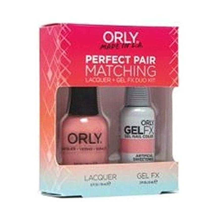魚博覧会なすOrly - Perfect Pair Matching Lacquer+Gel FX Kit - Artificial Sweetener - 0.6 oz / 0.3 oz