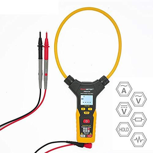 CWWHY Pinza Amperimétrica Digital, 6000 Cuentas, 3000A AC/DC Corriente Multímetro Voltaje Corriente Probador Frecuencia Ohmios, Mantenimiento Eléctrico Y Kit De Prueba
